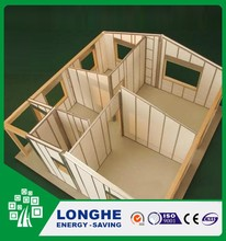high quality prefabricate wooden sandwich panel house in China