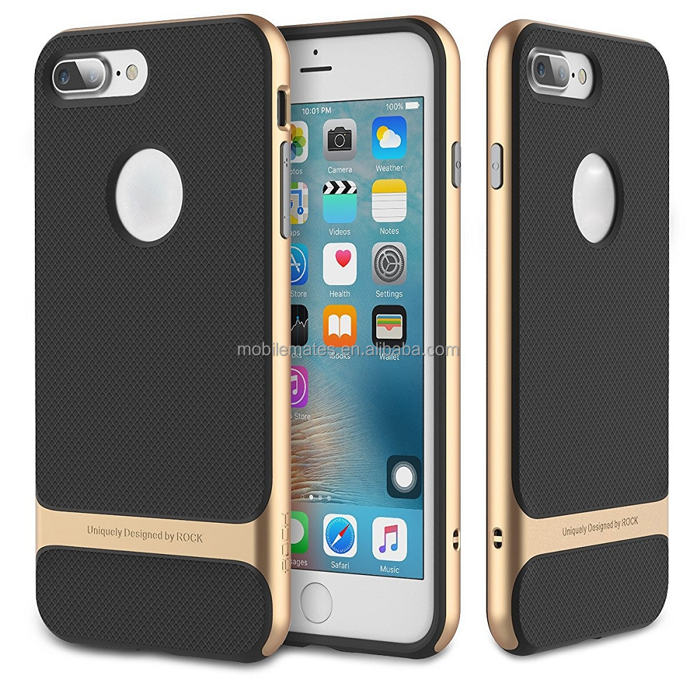 WholeSale for iPhone 7 Plus Rock Case, TPU Shell + PC Bumper Rock Brand Back Cover Case for iPhone 7 Plus