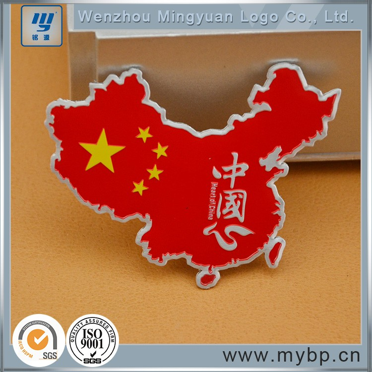 Promotional newest mirror aluminumdesign red logo