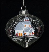 High quality clear glass ball ornaments bulk with transparent screen as decor for christmas tree