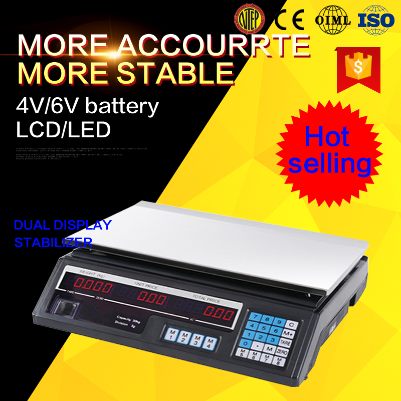 Acs series 30kg price computing super market weighing scale