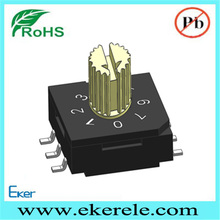 6 pole 8 position 10x10 SMT rotary code switch