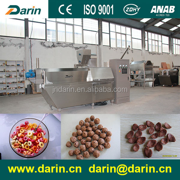 Breakfast Chocolate Corn Flakes Flakers Choco Cereals extruding machinery