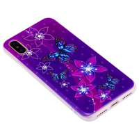 2018 new product matt 3D colorful fancy butterfly clear TPU cell phone case for Huawei P8 and P8 lite cover