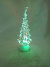 New product colorful light LED acrylic desk christmas tree