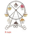 Ferris Wheel Silver Cupcake Stand Holder Display 8 Cups Wedding Party Supplies