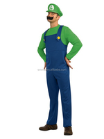 Super mario brothers luigi nintendo video game mens adult fancy cosplay costume BMG8263