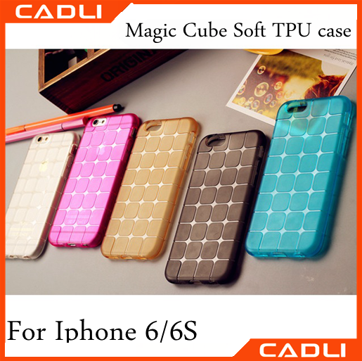 Factory Price cell phone case for iphone high quality magic cube tpu Mobile Phone Cover for Apple Iphone 6/6S