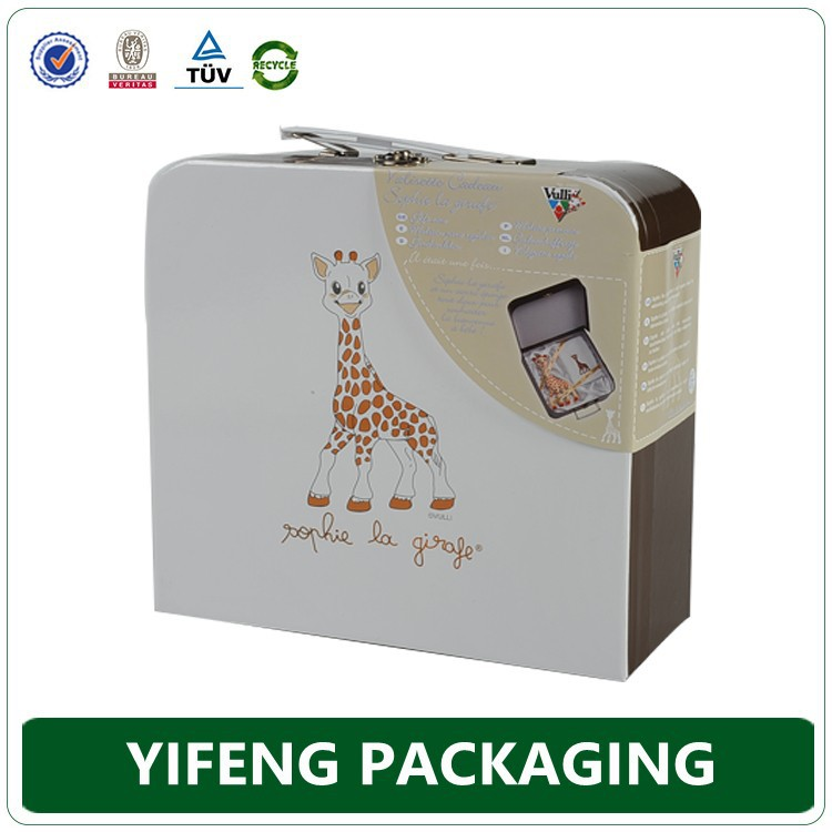 Customized cardboard suitcase/Gift boxes suitcase/Teddy bear Paper suitcase