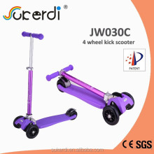 New model patented product colorful tube kids kick scooter kids 4 wheel scooter