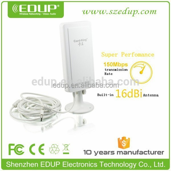 EDUP 150M outdoor long range ralink rt3070 chipset usb wireless adapter laptop usb wifi antenna KW-1507N