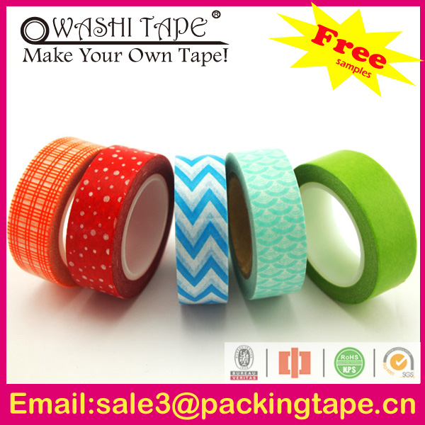 vegetable wrapping paper,decorative washi paper tape with good quality SGS