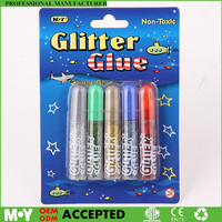Coloring DIY project Painting Metallic Color 6G Glitter Glue Blister card pack