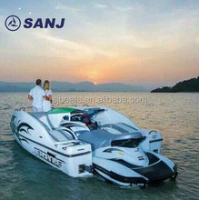 New SJFZ16 Fiberglass water jet Boat powered by personal watercraft 6 person wave runner CE approved