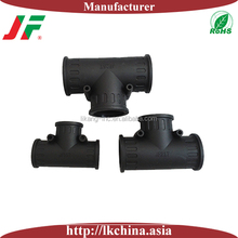 T pipe connector for wall mounted pipes