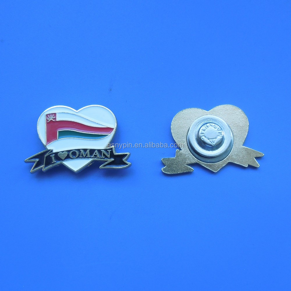 I Love Oman Imprint Magnetic Badge