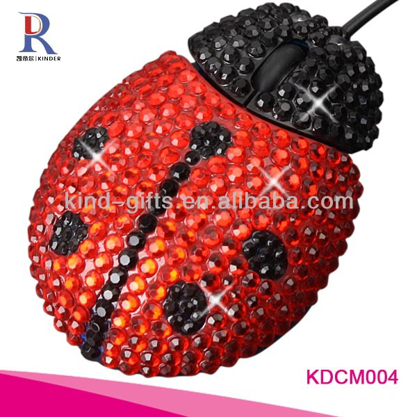 novelty shining bling gifts wired mouse