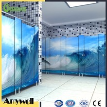 Amywell HPL Cubicle customized durable waterproof Toilet Partition Board