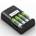 Intelligent power charger 4 slot 1.2v Ni-mh with LCD dispaly for 4 battery cells