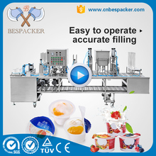 Automatic plastic cup sealing machine yogurt cup filling and sealing machine with date printing