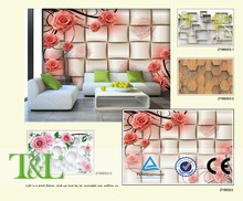 3D Giant photo pink rose living room wall decor wallpaper mural