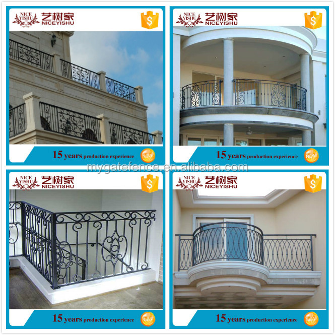 Balcony grill designs outdoor wrought iron railings iron for Balcony safety grill designs
