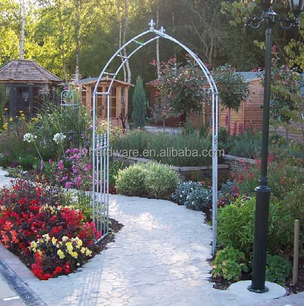 Art wrought iron Frame Material and decorative garden arch