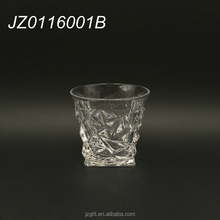 2016 hot sale wholesale customised elegant old fashion dimond cut whiskey glass, drinking glass tumbler