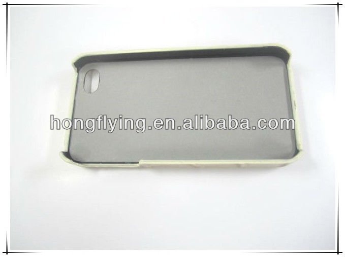 Smooth and high-end PU leather case for Iphone 4