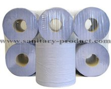 Super Recycled Blue Towel Paper Roll Top Quality & Low Price