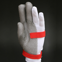 Hot three fingers protection cutting stainless steel metal mesh cut resistant gloves