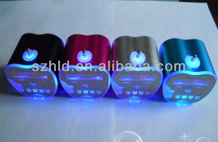 portable with flashing lighting multimedia mini speaker
