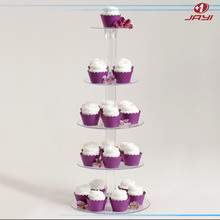 Desktop 5 Tier Stacked Party Cupcake and Dessert Tower, Cupcake Stand Display Racks