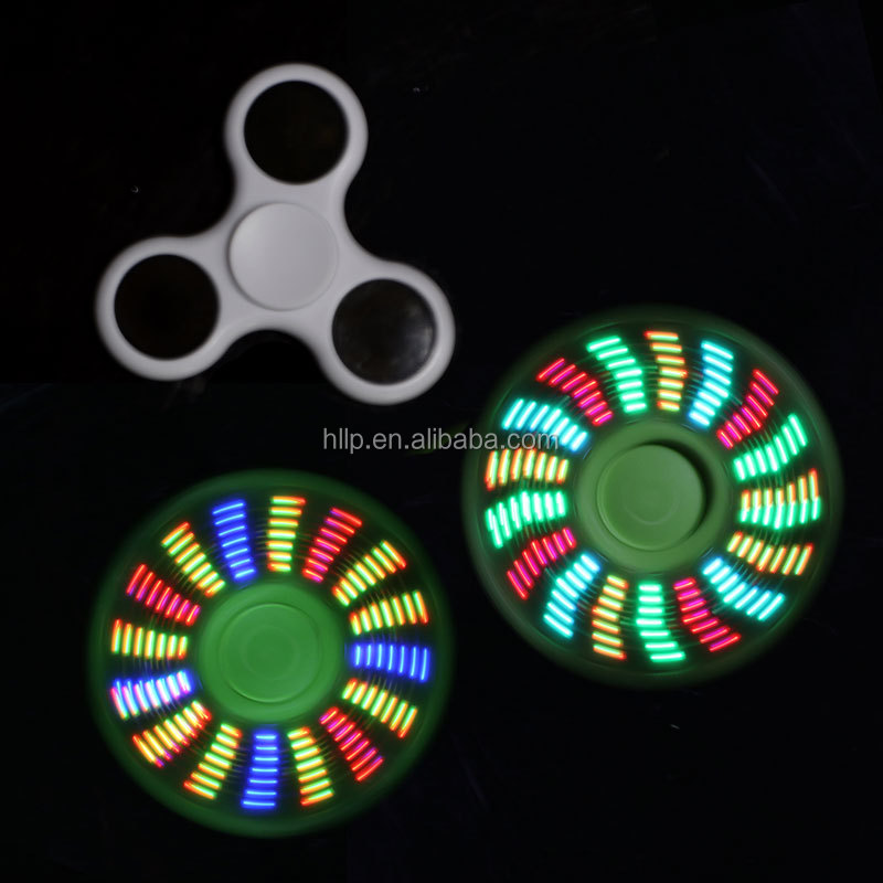 Fast Delivery Factory Whole Newest Anti Anxiety Toy 7 LED Flash Message Hand Fidget Spinner