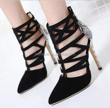 Z59134B china market shoes women mature sandals high heels low price ladies sandals