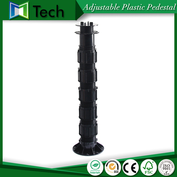 Adjustable access floor pedestal joist supports decking