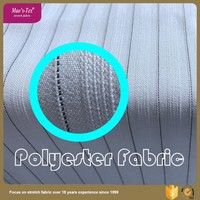 Chinese factory woven type 4 way polyester spandex striped fabric for garments