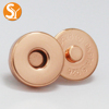Fashion Rose Gold bags magnetic snap button 14mm diameter round magnetic clasp button