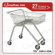 70L Commercial metal steel supermarket shopping carts with wheels