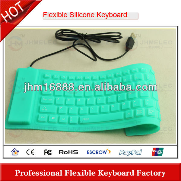 86 keys flexible silicone learn computer keyboard