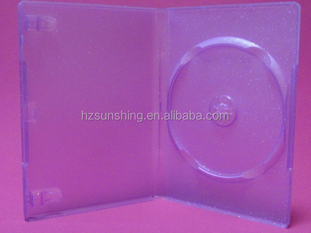 14mm storage plastic dvd cd case