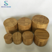Factory Sale Kinds Capacities Bamboo Container With Lid Wood Screw Cap