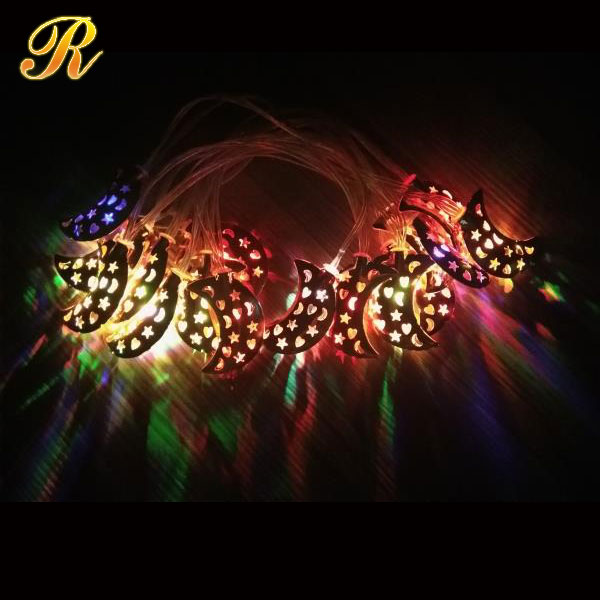 Led ramadan moon string lights indoor equipment motif light