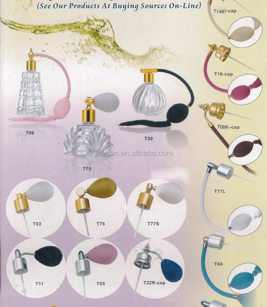 Europe Royal Style Classical Vintage Perfume Bulb Atomizer Collection