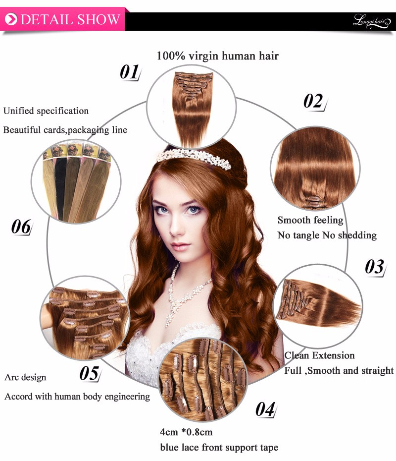 Best Selling Cheap New Full Head Clip In Hair Extensions For Black Women