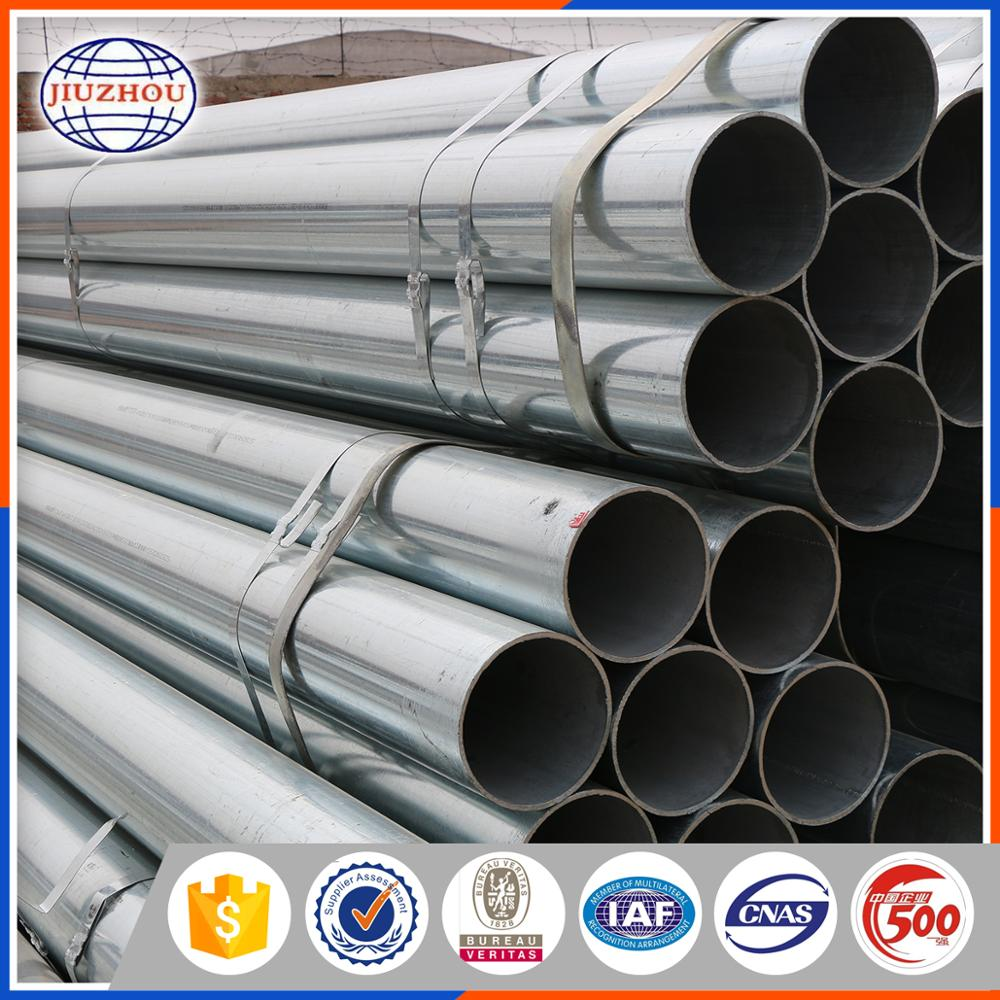 Dn 100 Std Bs1387 Galvanized Erw Welded Steel Tubes With Black Paint