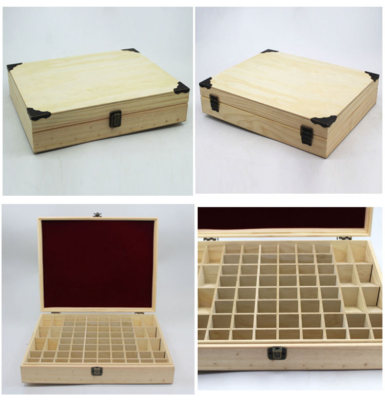 Customized Unfinished Packaging Doterra Wooden Essential Oil Box