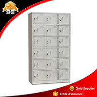 Knock down KD structure 18 doors steel shoes locker