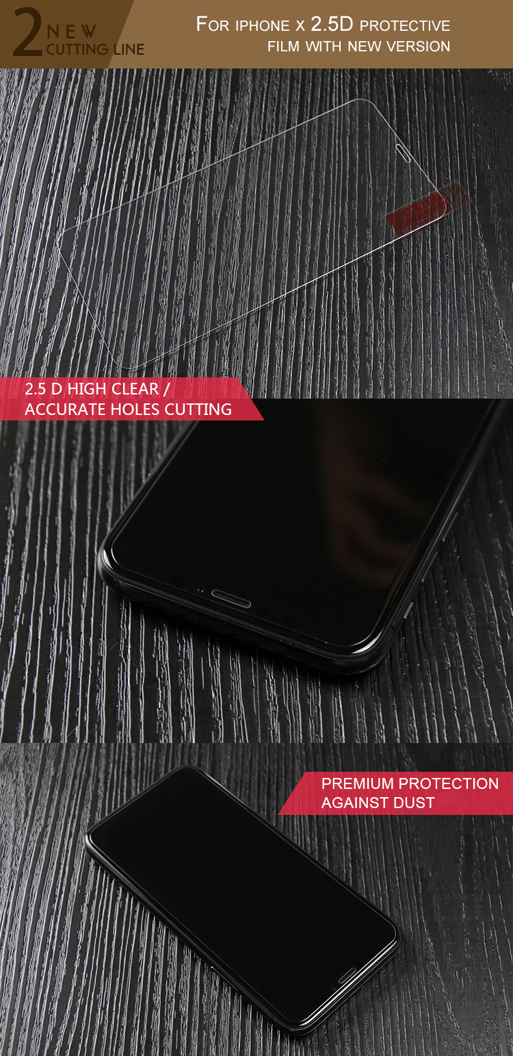 3D full glue curved tempered glass for iphone X screen protectors, 3D screen protectors for iphone X