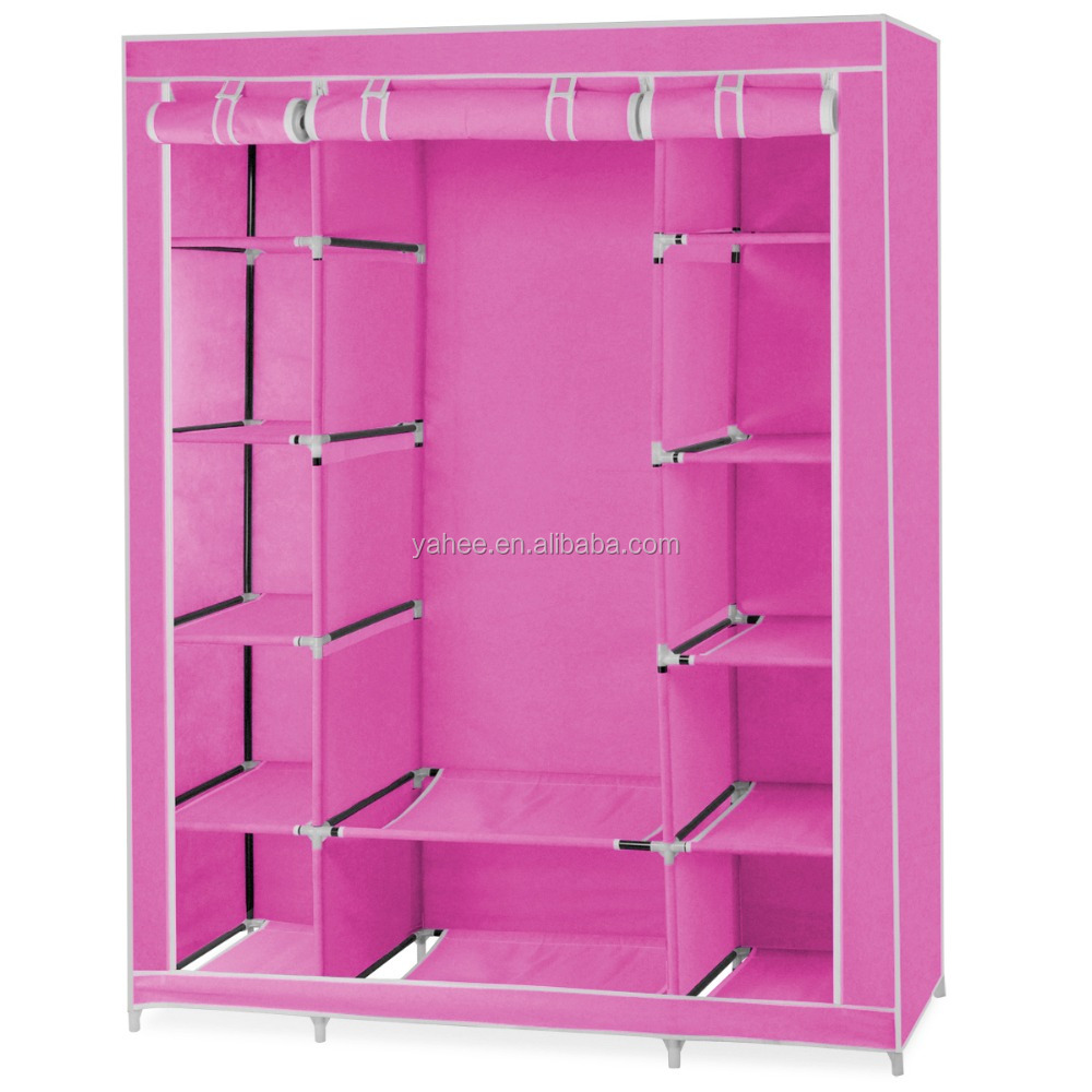 Non-woven Fabrics Large Double Wardrobe Foldable Wardrobe